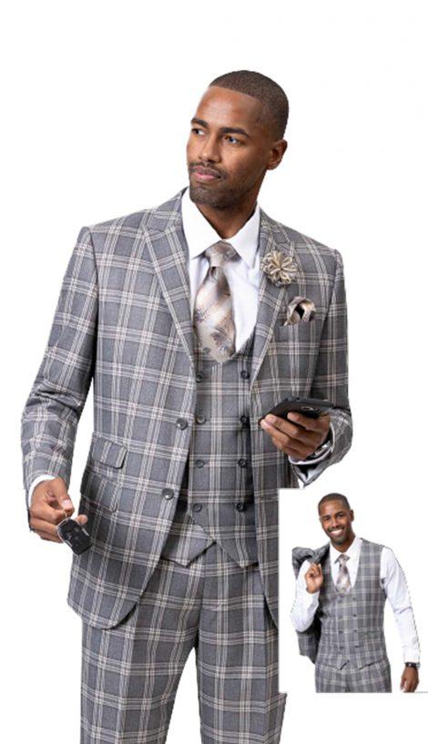 EJ Samuel, Men's Suits, Men's Plaid Suit, Church Suits