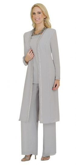 Misty Lane, Pants Suit, Benmarc, Silver, Style 13062