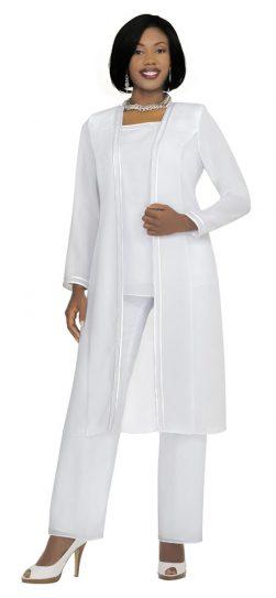 Misty Lane- Pants Suit-13062-white
