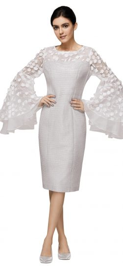 nina nischelle, 2888, stunning silver dressy dress