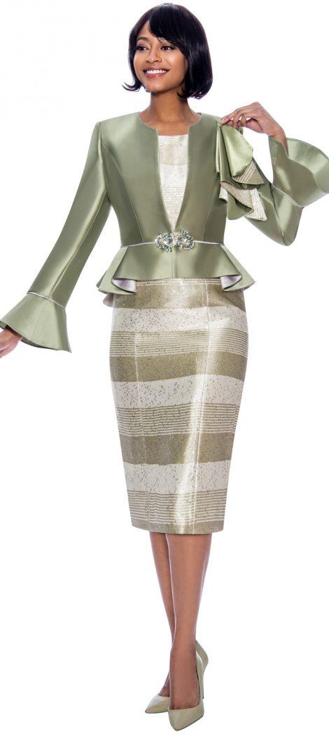 susanna, 3927, dressy sage skirt suit