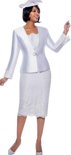 susanna, 3941, dressy White skirt suit