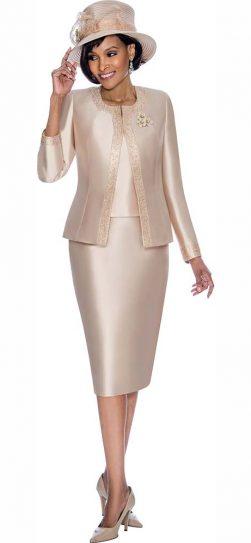 terramina, 7637, champagne church suit