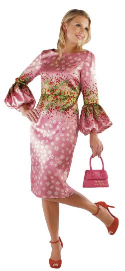 chancele, 9539, pink multi dress