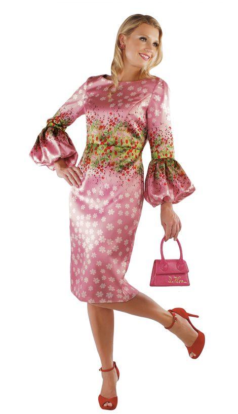 chancele, 9539, pink multi dress