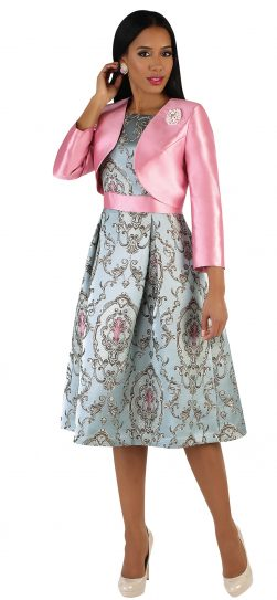 chancele, 9543, pink jacket dress