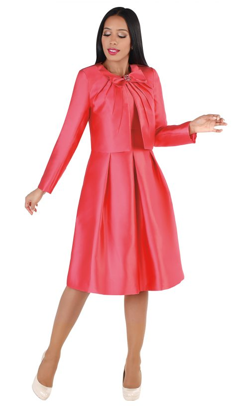 chancele, 9549, salmon jacket dress