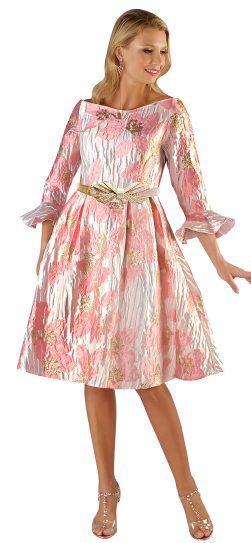 chancele, 9562, pink-gold dress