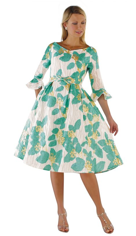 chancele, 9562, turquoise dress
