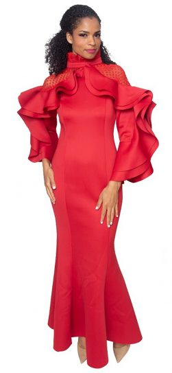 diana, 8345, long red gown