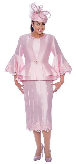 dorinda clark cole, dcc9053, pink skirt suit