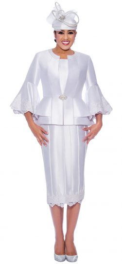 dorinda clark cole, dcc9053, white skirt suit