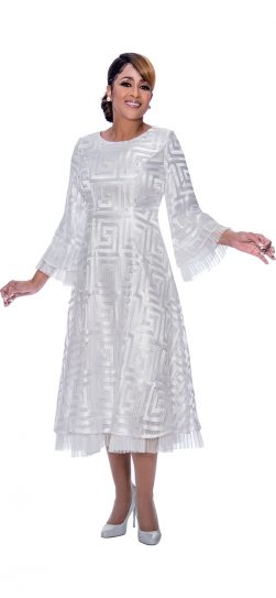 dorinda clark cole, dcc2171, white dress