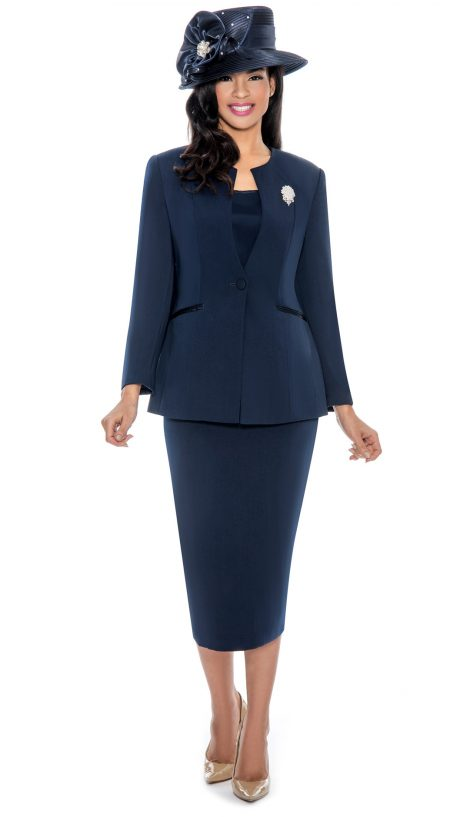 giovanna, 0708, navy skirt suit