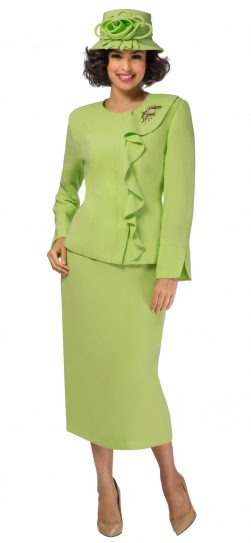 giovanna,0931, lime skirt suit