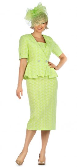 giovanna, 0939, lime short sleeve skirt suit