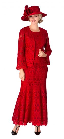 giovanna, 0946, red lace skirt suit