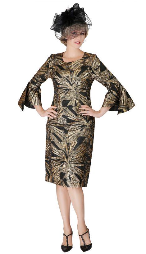 giovanna, d1530, black-gold dress