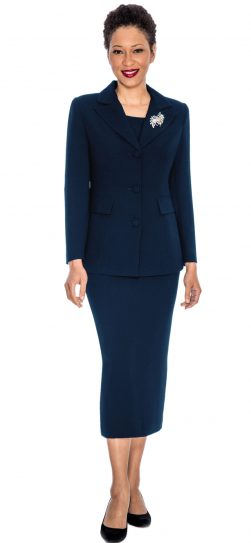 giovanna, 0655, navy usher suit, navy skirt suit