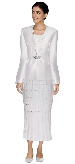 nina massini,2593, dressy white church suit