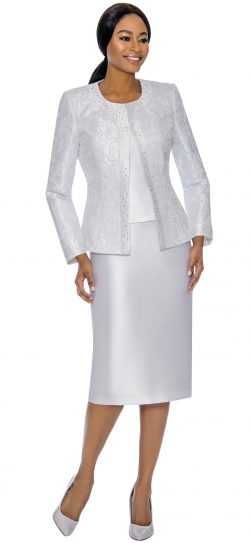 Susanna, 3885, white skirt suit
