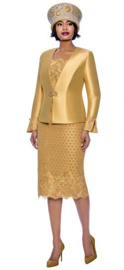 susanna, 3941, gold skirt suit