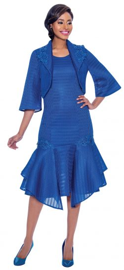 terramina, 7791, dressy royal blue dress