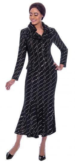 terramina, 7795, black-white dressy dress