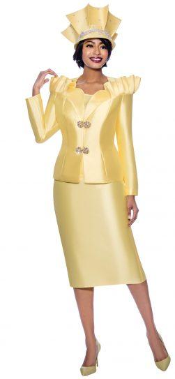 terramina, 7811, yellow skirt suit