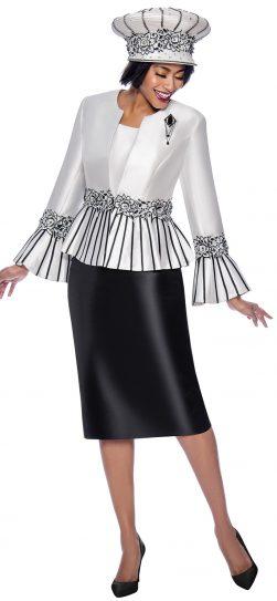 terramina, 7819, black-white church suit