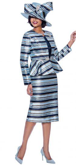 terramina, 7820, navy skirt suit