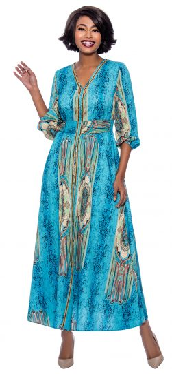 long print dress, terramina 7829