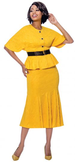 terramina, 7831, yellow skirt suit