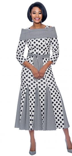 terramina, 7832, black-white dressy dress