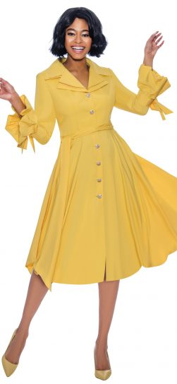 terramina, 7850, yellow shirt dress