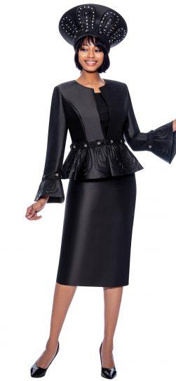 terramina, black dressy skirt suit, 7862