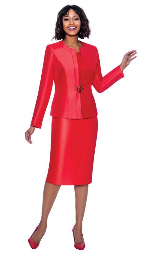 terramina, 7874, red skirt suit