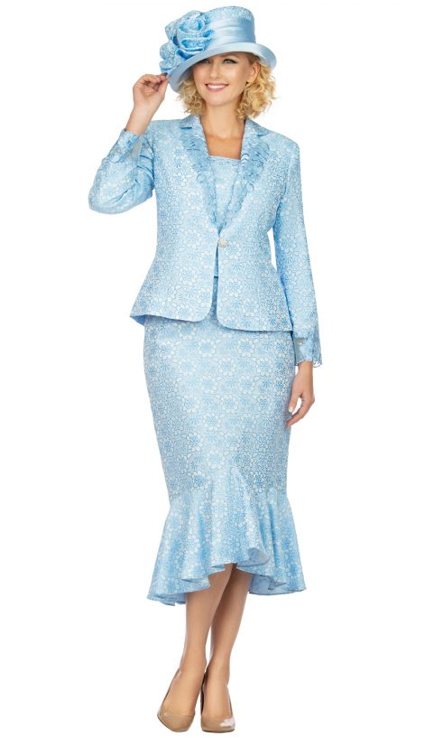 giovanna, 1143, blue church suit