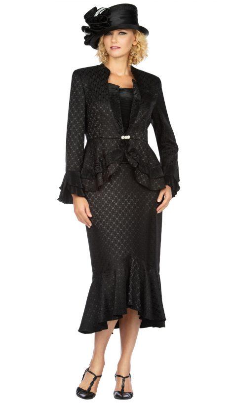 giovanna, g1142, dressy black skirt suit