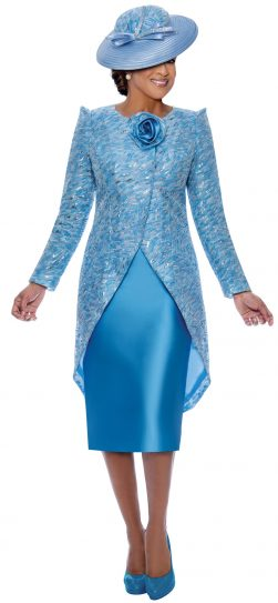 dorinda clark cole, dcc3452, blue jacket dress