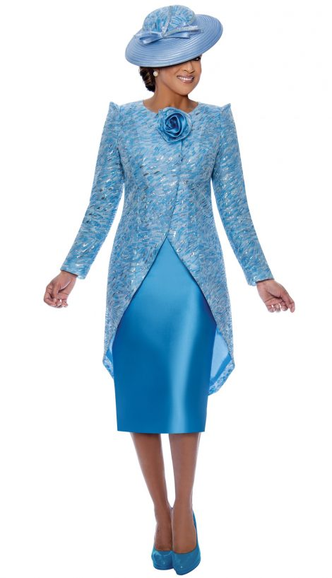 dorinda clark cole, dcc3452, blue jacket dress